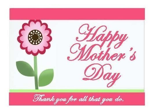 Church Support Australia Mother's Day Card Printout