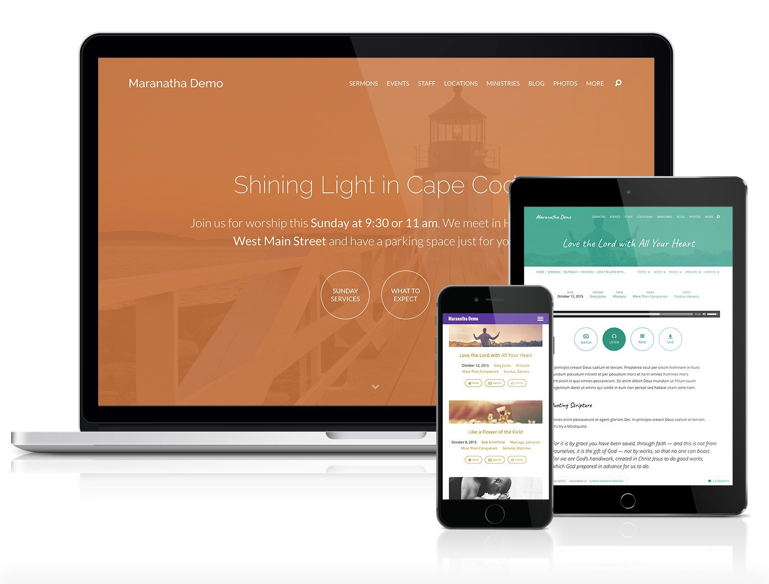 maranatha devices Church Websites Church Websites