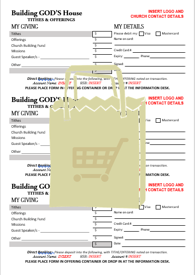 Church Support Australia Tithing Counting Form